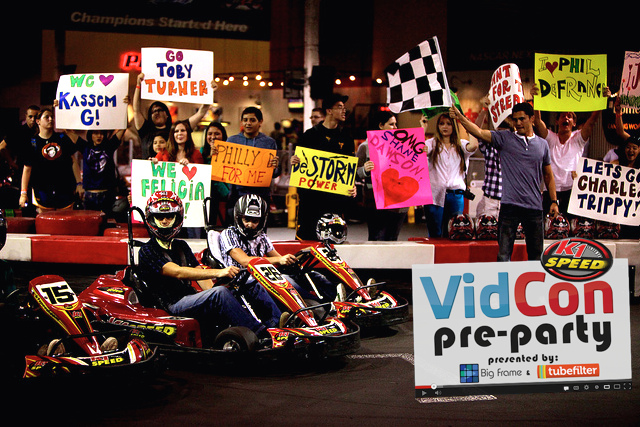 tubefiltervidconprepartyracers 1 The 4th Annual VidCon Pre Party Hosted by Tubefilter and Big Frame