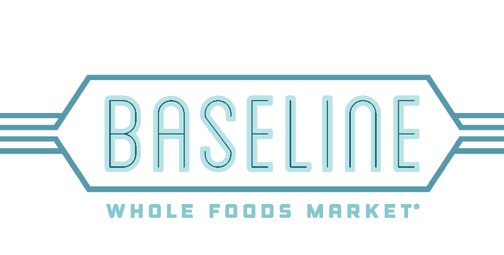 logo for the baseline whole foods market