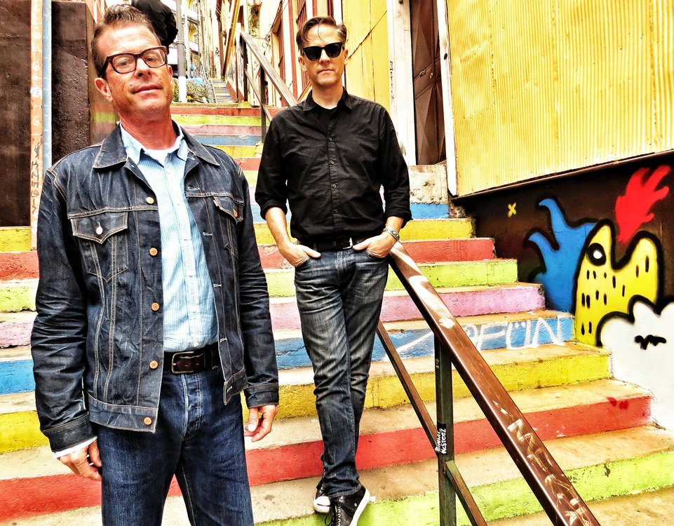 Image of the two members of the band Calexico