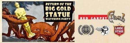 The Return Of The Big Gold Statue Watching Party