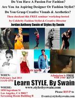 Learn Styles, By Swain: Fashion Seminar with Celebrity...
