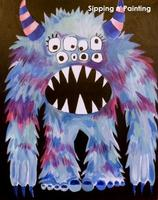 Sip N' Paint Cotton Candy Monster Friday March 15th,...
