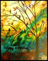 Sip N' Paint Evening Song Saturday March 23rd, 7:30pm