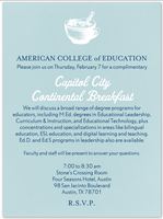American College of Education Capitol City Continental ...