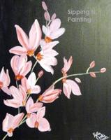 Sip N' Paint Pink Orchids Friday April 5th, 6pm