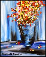 Sip N' Paint Monet's Flowers Sunday April 21st, 5pm