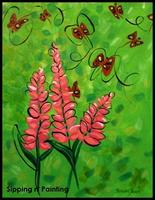 Sip N' Paint Lupines Sunday April 28th, 5pm