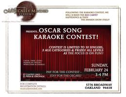 Film Event/Contest: Oscar Song Karaoke Contest