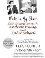 Delta Upsilon hosts Andrew Young and Kabir Sehgal at th...