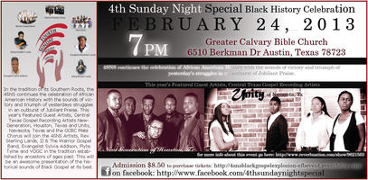 4SNS PRESENTS A BLACK HISTORY GOSPEL EXPLOSION