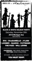 Area 33 & The Cruz Coalition's Black & White Holiday...