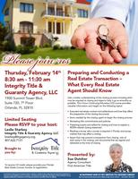 """FREE Ed Course """"Preparing & Conducting a Real Estate..."""