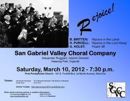 "San Gabriel Valley Choral Company Presents ""Rejoice!"""