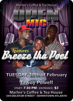 Open Mic w/ Live Music featuring Breeze Tha Poet