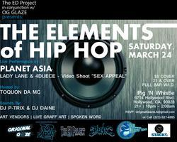 ELEMENTS of HIP HOP w/ PLANET ASIA + LADY LANE &...