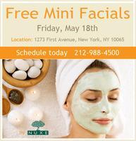 Free Mini Facials and Consultations by Nuxe