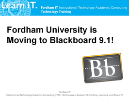The New Blackboard:  What you need to know to...