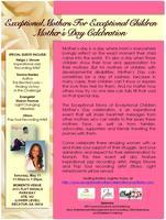 EXCEPTIONAL MOTHERS OF EXCEPTIONAL CHILDREN  MOTHER'S...