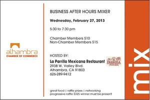 Alhambra Chamber of Commerce February Mixer