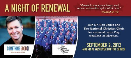 A NIGHT OF RENEWAL with Dr. Ron Jones and The National...