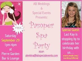 Pamper Spa Party/Laci Kay's B-Day Party