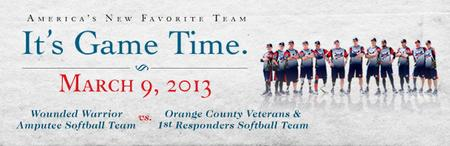 Wounded Warrior Amputee Softball Charity Game