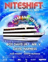 9/23 Niteshift 2 Year Anniversary Yacht Cruise w/Roy...