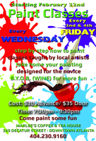 Paint Classes - Fun at Marlee's - BYOB (WINE)