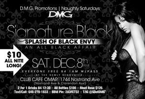 "2Nite ""Signature Black: Splash of Envy"" All Black..."