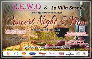 "S.E.W.O Present our Second Annual ""Concert Night  Wine..."