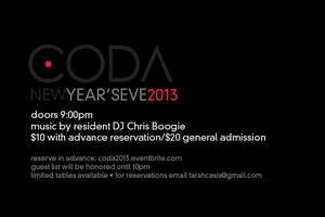 New Year's Eve @ Coda