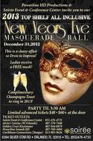 New Years Eve Top Shelf All Inclusive Masquerade Ball