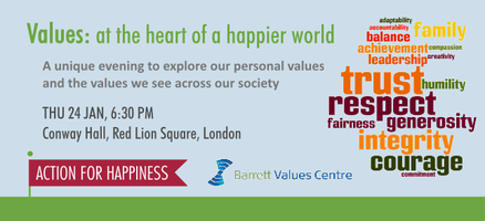 Values: at the heart of a happier world