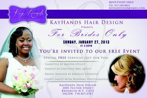 Bridal Event. For Brides Only, a Free Day of Beauty!