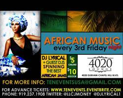 African Music Night - Every 3rd Friday
