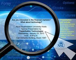 TradeStation Technologies Special Presentation at NSU