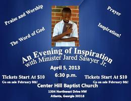 An Evening Of Inspiration with Minister Jared Sawyer...