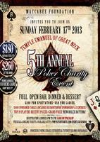 Maccabee Foundation 5th Annual Poker Charity Event