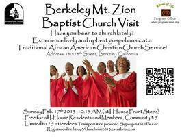 CHURCH VISIT, BERKELEY MT.ZION BAPTIST CHURCH