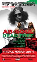 Ab-Soul with dead prez Performing Live