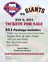 Phillies vs. Giants Tailgate/Game Trip 05/2013