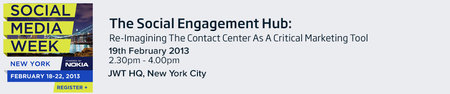 At Social Media Week- Re-Imagining The Contact Center...