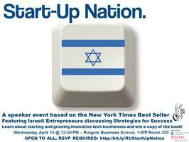 "Israel Peace Week Presents: ""Start-Up Nation"""