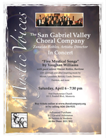 Concert:  San Gabriel Valley Choral Company Presents...