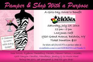 Pamper & Shop With a Purpose
