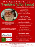 St. Leo the Great Breakfast with Santa and Chistmas...