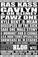 UndergroundHipHopBLOG.com Showcase w/ RAS KASS, GAVLYN & OH BLIMEY, PAWZ ONE, KYLE BENT, R-MEAN + more | Unofficial SXSW