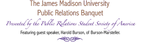 James Madison University Public Relations Banquet
