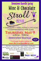 Danville Spring Wine & Chocolate Stroll