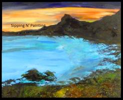 Sip N' Paint Hawaii Sun, June 23rd 11am $40 Fundraiser